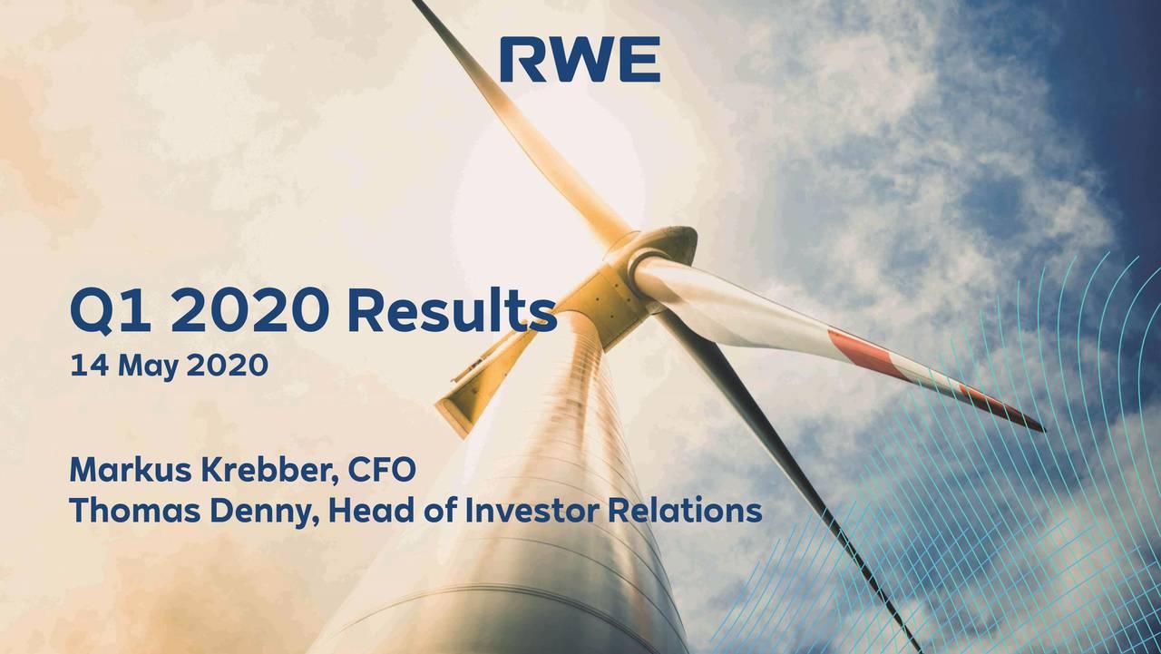 RWE Aktiengesellschaft 2020 Q1 - Results - Earnings Call Presentation