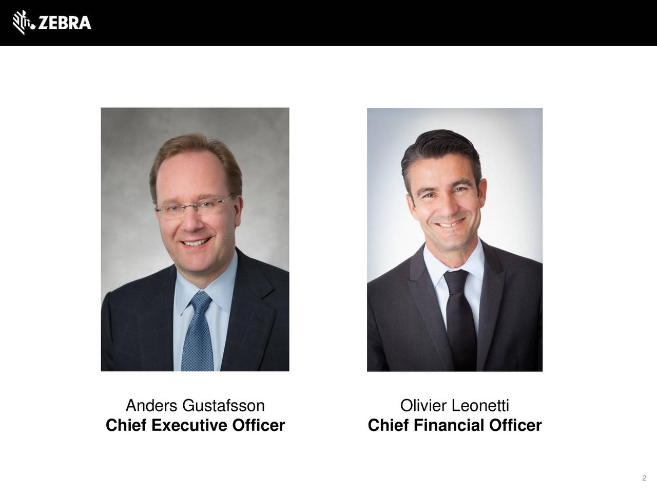 Chief Executive Officer Chief Financial Officer 2