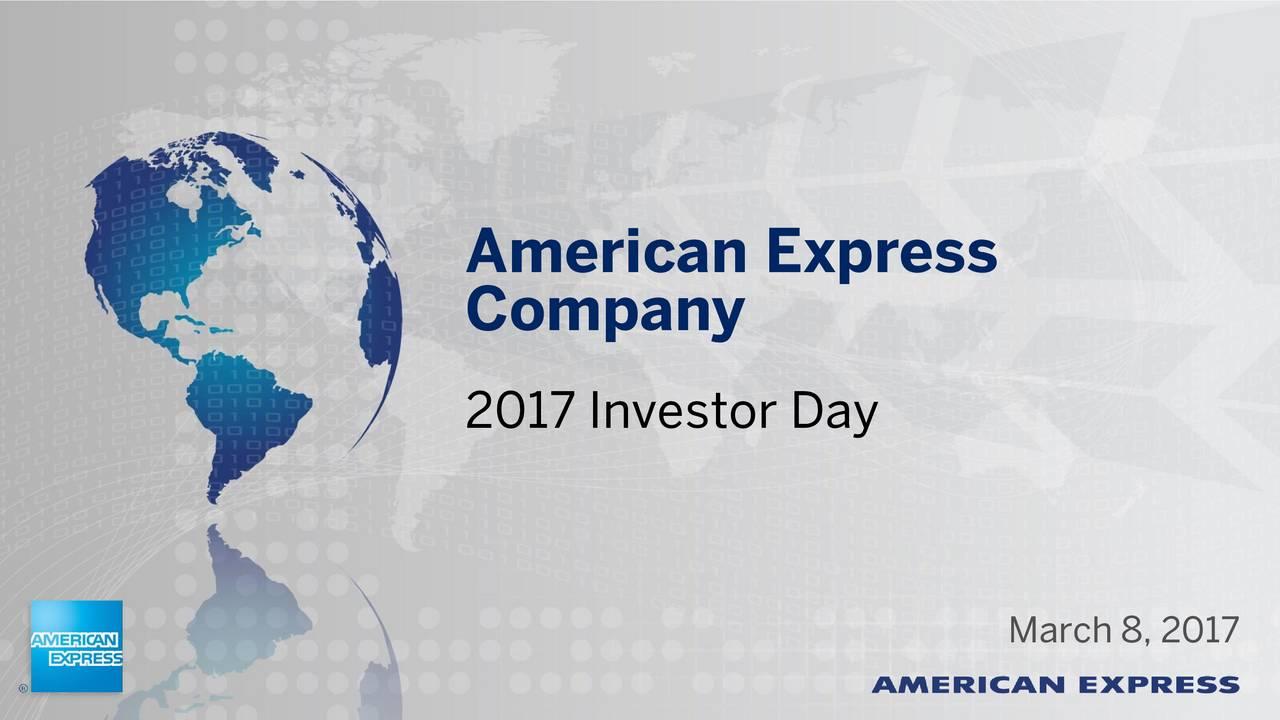 Company 2017 Investor Day March 8, 2017