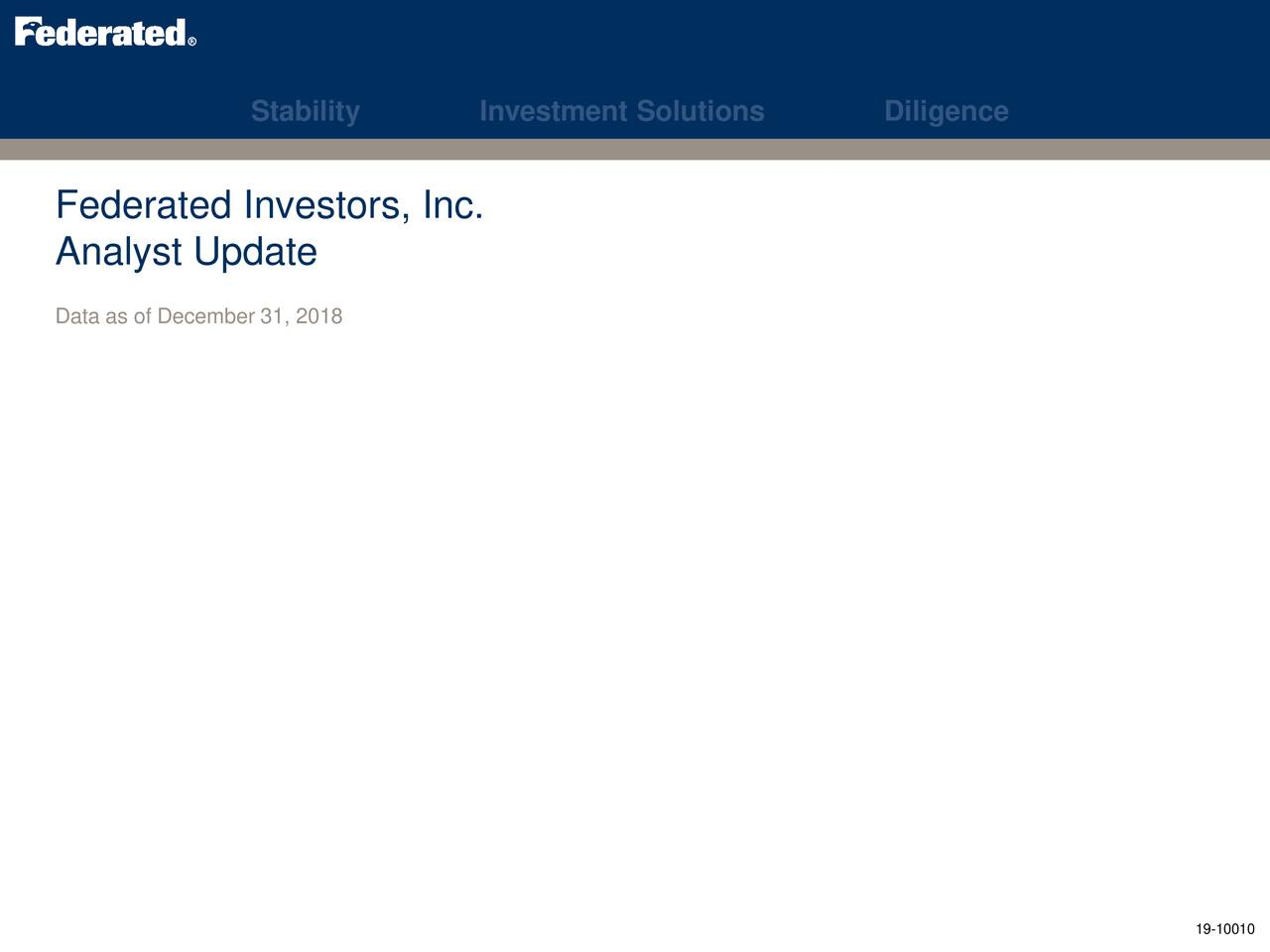 Rbc Capital Markets >> Federated Investors Fii Presents At Rbc Capital Markets Financial
