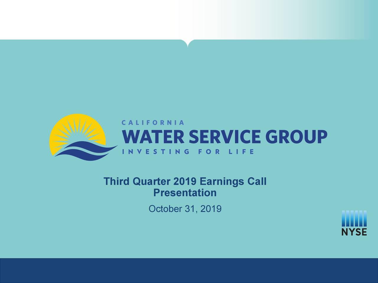 Third Quarter 2019 Earnings Call
