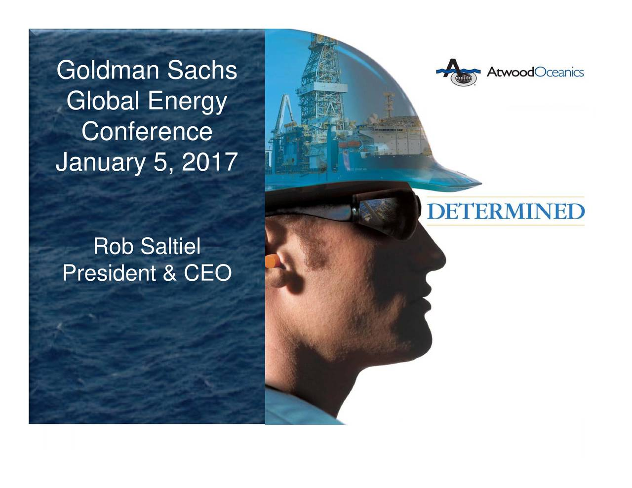 Goldman SJanuary 5, 2017dent & CEO 1