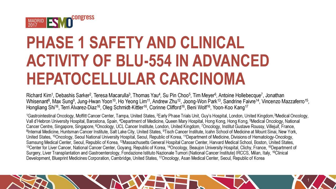 Blueprint medicines bpmc updates on phase 1 clinical trial of blu activity of blu 554 in advanced hepatocellular carcinoma 1 2 3 4 5 6 7 malvernweather Gallery