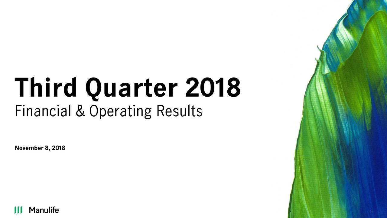 Financial & Operating Results November 8, 2018